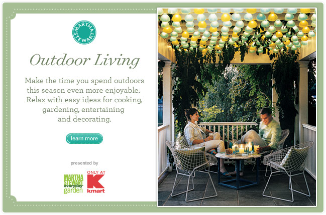 Outdoor Living -- Make the Time you spend outdoors this season even more enjoyable. Relax with easy ideas for cooking, gardening, entertaining and decorating.