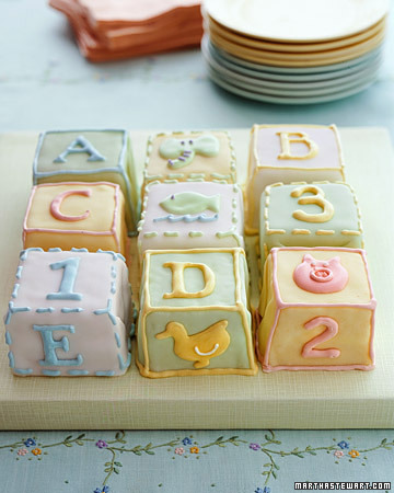 building blocks cake. Bunny Block Cake