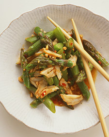 Image of Asparagus-and-Crab Salad, Martha Stewart