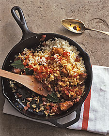 Image of Annatto Rice With Sausage And Tomato, Martha Stewart