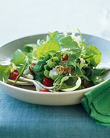 Image of Arugula, Frisee, And Red-Leaf Salad With Strawberries, Martha Stewart