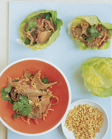 Image of Asian Beef In Lettuce Cups, Martha Stewart