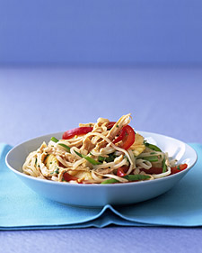 Image of Asian Noodles With Chicken And Pineapple, Martha Stewart