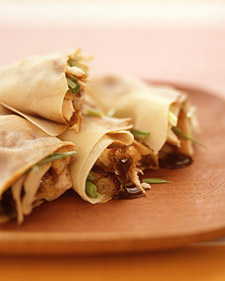 Image of Asian-Style Chicken Wraps, Martha Stewart