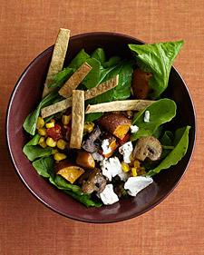 Image of Arugula Salad With Roasted Sweet Potatoes And Mushrooms, Martha Stewart