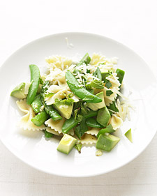 Image of Asparagus, Snap Pea, And Avocado Pasta, Martha Stewart