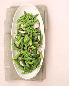 Image of Asparagus, Peas, And Radishes With Fresh Tarragon, Martha Stewart