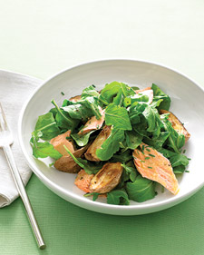 Image of Arugula With Roasted Salmon And New Potatoes, Martha Stewart