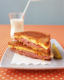 Image of Apple, Ham, And Cheddar Melt, Martha Stewart