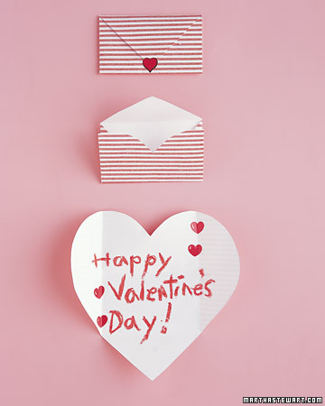 Valentine's Day Cards. Folding Heart Cards. Friends will be aflutter