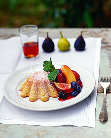 Image of Almond Cakes With Fresh Fruit, Martha Stewart
