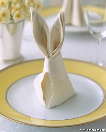 Bunny-Fold Napkins - Martha Stewart Home and Garden