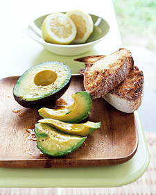 Image of Avocado With Lemon And Olive Oil, Martha Stewart