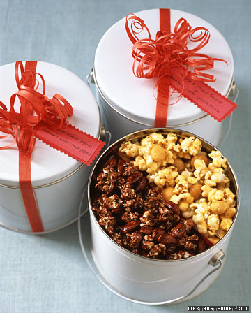 homemade popcorn gift tin