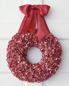 Holiday Carnation Wreath
