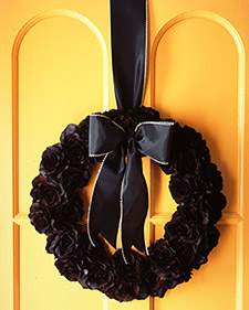 Halloween Silk Flower Wreath