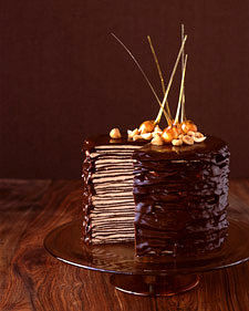Four Years Ago I Saw This Crepe Cake In An Issue Of Martha Stewart Living The Thought Is Cool Like Crepes Chocolate