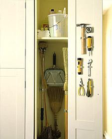 Broom Closet Organizer