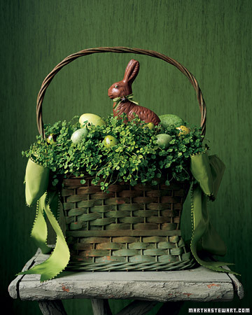 Decorating for Easter and more holiday recipes, crafts projects, decorating tips, gift ideas, and simple solutions on marthastewart.com :  easter basket