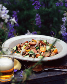 Image of Andouille, Bean, And Tomato Salad, Martha Stewart
