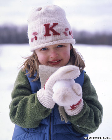 Kids Monogrammed Winter Hats