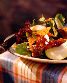 Image of Autumn Greens With Apples, Radishes, And Cheddar Frico, Martha Stewart