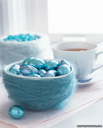 Decorating for Easter and more holiday recipes, crafts projects, decorating tips, gift ideas, and simple solutions on marthastewart.com :  candy bowls
