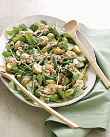 Image of Arugula, Potato, And Green-Bean Salad With Creamy Walnut Dressing, Martha Stewart