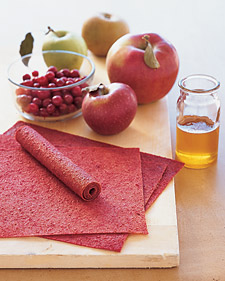 Image of Apple-Cranberry Fruit Leather, Martha Stewart