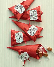 Gingerbread Caramel Cones