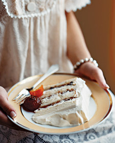Image of White Cake With Mincemeat Filling And Glaceed Fruit, Martha Stewart