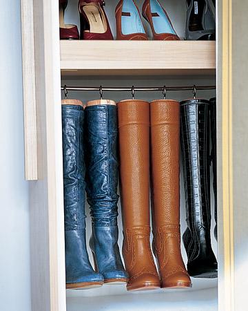 Boots organiser, via Martha Stewart