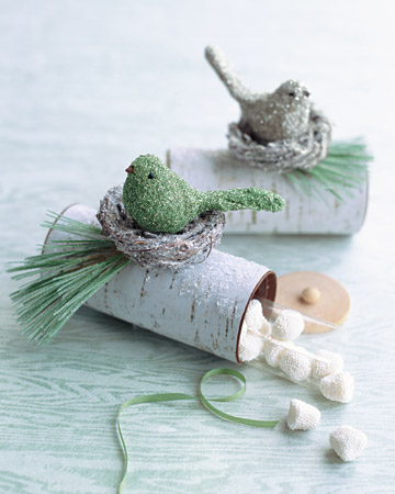 How adorable would these be for favor boxes for your winter wedding