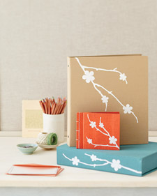 Albums and Binders with Iron-On Floral Silhouettes