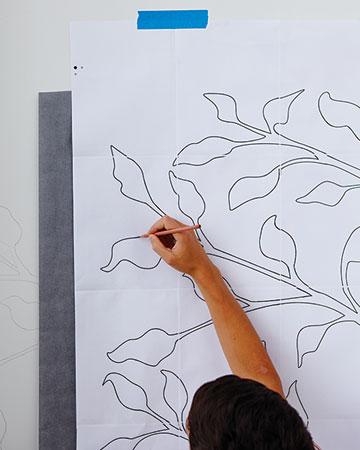 Рисунок карандашом на стене своими руками 32