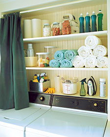 Laundry room organization example