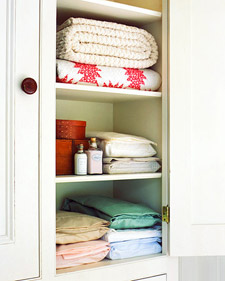 Tidy Up a Linen Closet