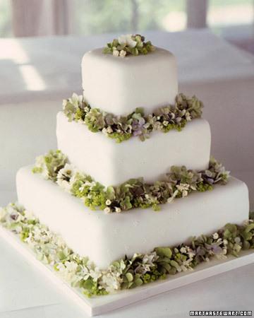 Hydrangea Wedding Centerpieces. Hydrangea Wedding Cake
