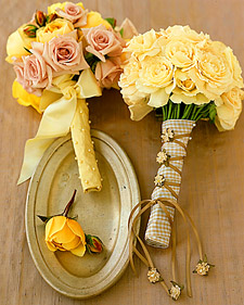 Dressing the Bouquet: Fabric and Ribbon Square-Ends 