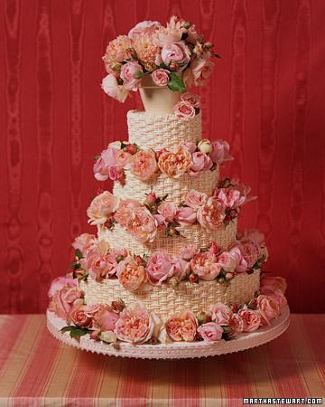عکس کیک عروسی صورتی
