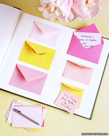This envelope guest book is really easy and so cute!
