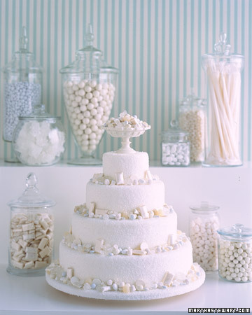 Separate table next to Wedding Cake Together with Wedding Cake