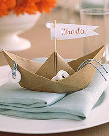 Good Things: Paper-Boat Place Card