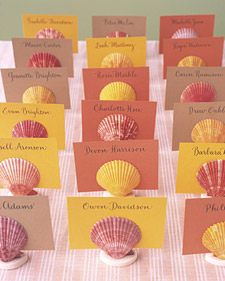 Shell Seating Card Holders