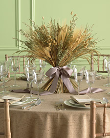 Harvest Centerpiece and more creative crafts projects, templates, tips, clip-art, patterns, and ideas on marthastewart.com :  table projects easy centerpiece