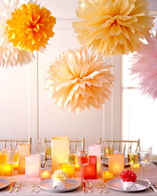Pom-Poms and Luminarias How-To