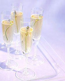 Lavender Champagne and more inspiring wedding dresses, bouquets, cakes, favors, and advice on marthastewart.com