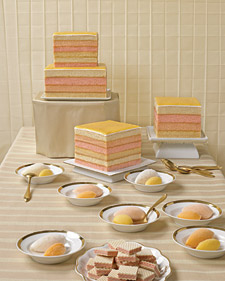 A Different Stripe Wedding Cake