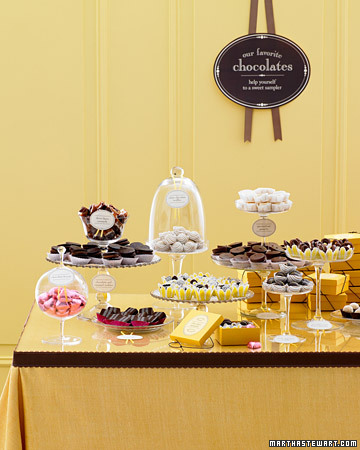 Given as a favor chocolate is always a big hit and letting your guests