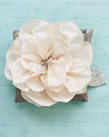 Silk-Flower Ring Pillow